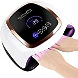 Tonsooze 168W Nageltrockner UV LED Nagellampe Lampe für Nägel,Professionelle Nagellampe mit 4 Timer, Infrarot Sensor,Touchscreen, Abnehmbarer Magnet-Bodenplatte,Geeignet für Alle Gel