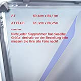 DIN A1 / A1 PLUS (594 mm x 841 mm) / (613 mm x 862 mm) Ersatzfolie Schutzfolie Folie für Kundenstopper Plakatrahmen (2 x A1 Plus 613mm x 862mm)