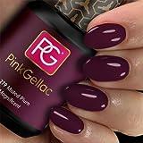 PINK GELLAC Shellac Gel Nagellack 15 ml für UV LED Lampe   279 Muted Plum Lila Violett   Gel Nail Polish for UV Nail Lamp   LED Nagel Lack Gellack Nagelgel