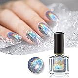 Born Pretty 6ml Holographic Nagellack Shining Glitter Superglanz Nagelkunst (Magisch Regenbogen)