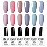 ROSALIND UV Farbgel Set 6 Stück Gel-Nagellack Imprägniert das Design-Set für Nagellack-Set UV Gel Nagellack Kit …