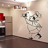 yaonuli Aufkleber Food Chef Vinyl Wandaufkleber Küchentapete Home Decoration 50X60cm
