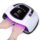 UV LED Lampe für zwei Hände, Upgrade 108W Nageltrockner, Großer Platz für 10 Nägel/Zehennägel, Nagellampe mit Auto-Sensor 4 Timer Touchscreen, Aushärtungswerkzeug für gel shellac lack Acryl polygel