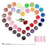 Janolia Gel Nagellack 36 Farben, Semi-permanent, Gel Nagellack Set für Nageldesign, Perfekt für Anfänger, Perfektes Geschenk