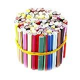 100Pcs Nagel-Kunst-3D-Sticks Designs Nail Art Nailart Maniküre Fimo Stock-Rod-Aufkleber Gel Tipps Sticks