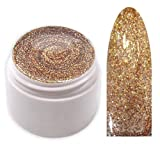 xxl-cosmetic UV Farbgel Glitter Effekt Gel Kupfer-Gold #GGF-18