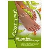 net-xpress Plakat für Fußpflegepraxis DIN A1, Werbeplakat Poster Nagelstudio