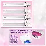 N&BF 4er Set 9W UV Ersatzröhren für Lichthärtungsgeräte | Ersatz Lampen für UV Geräte eckig & Lichtschranke | Lighttube Röhren Aushärtelampe | Zur Gelnägel Maniküre Zuhause & im Nagelstudio einsetzbar