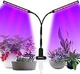 LED Pflanzenlampe, UV & IR Lampe 96 LEDs Grow Lampe dimmbar Pflanzenlicht Vollesspektrum Pflanzen Wachstumslampe mit Timing Wachstumslampe, 3 Timer 3/6/12H Zimmerpflanzen