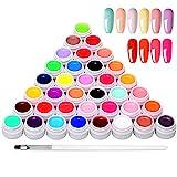 Anself 36 Farben UV Farbgel, UV Nägel Set Gelfarben für nägel, Nail Art Farbgel Set, Gel Nägel Farben, Nagellack Nägel Gelnägel für Nail Art Nagel Design