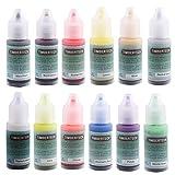 Timbertech Acrylfarben Airbrush Farben 12 * 10ml Model Air Basis Bunt Metallic FarbenSet Airbrushfarben