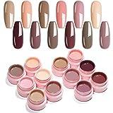 UR SUGAR 5ml UV Gel Nagellack Set Nude Farben Serie Für Nagelgel Maniküre Nagellack Set Schellack Shellac Farbgel für Nägel