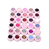 Set von 30 Farben Soak-off Uv LED Gelpoliermittel Base Top Nail Art Maniküre Kit Farben