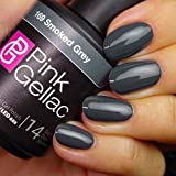 Pink Gellac Shellac Gel Nagellack 15 ml für UV LED Lampe   169 Smoked Grey Grau   Gel Nail Polish for UV Nail Lamp   LED Nagel Lack Gellack Nagelgel