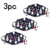 SEWORLD Unisex Mundschutz Multifunktionstuch Weihnachten Druck Atmungsaktive Baumwolle Waschbar Mund-Nasenschutz für Herren Damen Bandana Halstuch