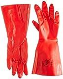 Ansell Sol-Vex 37-900 Nitril Handschuhe, Chemikalien- und Flüssigkeitsschutz, Rot, Größe 9 (12 Paar pro Beutel)