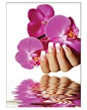 Poster Orchidee Nails DIN A3 Nagelstudio Nageldesign Nailart Wandgestaltung Kosmetik Nails 29,7x42,0cm
