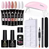 Buding Gel Nagellack Set UV Gel Nagelgel Set Gelnägel Nageldesign Starter Set Gellack Led Nagellack Set Gellack Nagelset Für UV Nageldesign Gelnägel UV Lacken Nagellack Starterset UV Gel Nagelset