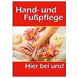 net-xpress Werbeplakat für Hand- und Fußpflege DIN A1, Plakat Poster Nagelstudio