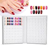 Yotown 216 farben-nagel-kunst-ausstellungsstand-nagel-gel-farben-karten-nagellack-diagramm anzeigen buch nail art regal zeigte