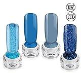 SPARKLING LAGOON Gel Collection SET - Color- & Effektgel - UV/LED Gel SET - 4x 5ml
