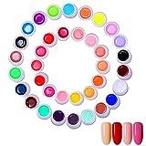 Xpassion 36 Farben UV Gel, Gelnägel Farben, Nail Art UV Gel Farbgel, Gel Nagellack Nail Gel Polish für Nagel-Design