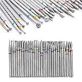 Zasiene Bit Nagelfräser 30 Stück Nagelschleifer Nagelfeile Elektrisch Aufsatz Set für Professioneller Nagelhaut Nagelpflege Maniküre Pediküre