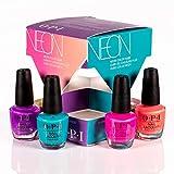 OPI Nail Lacquer Nagellack, glänzender und langanhaltender Farblack, NEONs by OPI Collection, Mini 4er Set: Orange You a Rock Star?
