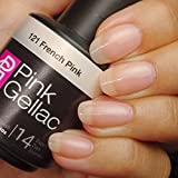 PINK GELLAC Shellac Gel Nagellack 15 ml für UV LED Lampe   121 French Pink rosa rose pink   Gel Nail Polish for UV Nail Lamp pink   LED Nagel Lack Gellack Nagelgel