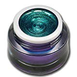 RM Beautynails Premium UV Metallic Glittergel Jewel Collection Turmalin Grün-Blau 5ml UV-Gel Profifarbgel kein absenken der Pigmente sehr hohe Deckkraft