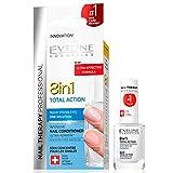Eveline Cosmetics 8in1 Total Action |12 ML | Professionelle Nägel-Therapie | Konzentrierter Nägel-Conditioner | Schnelleres Wachstum | Stärkere Nägel | Einfache Anwendung