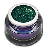 5ml Chrome Glitter Farbgel Nr. 07 Emerald Grün Premium Colorgel RM Beautynails