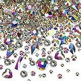 Nagel Kristalle AB Strasssteine mit Flache Rückseite Gemischt Nagel Diamant Stein für Nagel Kunst Kleidung Schuhe Taschen Kunsthandwerk (120 and 3456 Mix Shape)