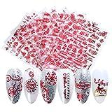 Nagelsticker Weihnachten,Kapmore 9pcs Nagel Sticker Weihnachten Nail Sticker Nagelsticker Selbstklebend Nail Art Dekoration