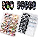 VINFUTUR 20 Rollen Nagel Transferfolie Weihnachten, Nailart Transferfolie Nagelsticker Aufkleber Nagelfolie Transfer Sticker Nail Wraps Nagel Decals Nagelschmuck Nagel Kunst Tattoos