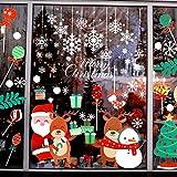 Syhonic Fensterbilder Weihnachten Schneeflocken Selbstklebend 88 Abnehmbare Statisch Haftende PVC Aufkleber Winter Deko Weihnachtsdeko für Türen, Schaufenster, Vitrinen, Glasfronten