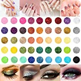 45 Clos Nail Art Glitter Powder Set, Haar Face Body Nagel Eye Make Up Festival Glitzer, Colour-changing Nagel Pigment Sequins for Children & Adult Art Projects School or Scrapbooking Decor