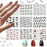 Nicedeco 15x Nagel Sticker Wrap Wasser Transfer Aufkleber Tattoo Tips Idee als Nail Art/Phone Case/Einladungskarten Dekoration TYP 1