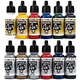 Airbrush Farben 12 x 17 ml Vallejo Model Air Basis Metallic Farben-Set Airbrushfarben